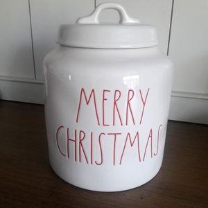 Rae Dunn MERRY CHRISTMAS white canister 2019